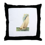 Vintage Boat 2 Throw Pillow
