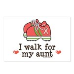 Breast Cancer Walk Aunt Postcards (Package of 8)