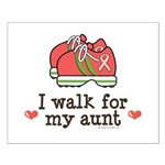 Breast Cancer Walk Aunt Small Poster