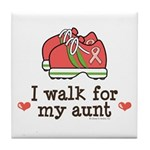 Breast Cancer Walk Aunt Tile Coaster