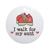 Breast Cancer Walk Aunt Ornament (Round)