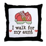 Breast Cancer Walk Aunt Throw Pillow