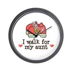 Breast Cancer Walk Aunt Wall Clock