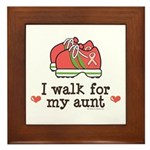 Breast Cancer Walk Aunt Framed Tile