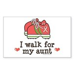 Breast Cancer Walk Aunt Rectangle Sticker 50 pk)