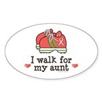 Breast Cancer Walk Aunt Oval Sticker (50 pk)