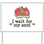 Breast Cancer Walk Aunt Yard Sign