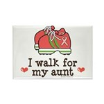 Breast Cancer Walk Aunt Rectangle Magnet (100 pack