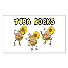 Tuba Rocks Rectangle Sticker 10 pk)