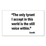 Gandhi Still Voice Quote Rectangle Sticker 10 pk)
