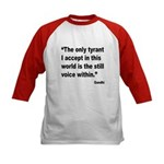 Gandhi Still Voice Quote (Front) Kids Baseball Jer