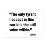 Gandhi Still Voice Quote Postcards (Package of 8)