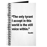 Gandhi Still Voice Quote Journal