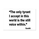 Gandhi Still Voice Quote Mini Poster Print