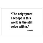 Gandhi Still Voice Quote Large Poster