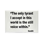 Gandhi Still Voice Quote Rectangle Magnet (10 pack