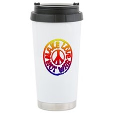 Make Love Not War Ceramic Travel Mug