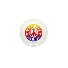Make Love Not War Mini Button (10 pack)