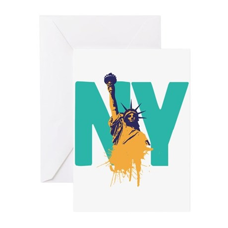 New York Lady Liberty Greeting Cards (Pk of 20)