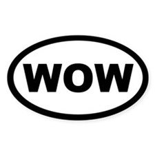 WOW Oval Sticker (50 pk)