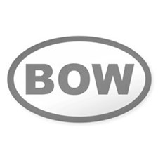 BOW Oval Sticker (50 pk)
