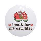Breast Cancer Walk Daughter Ornament (Round)