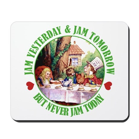 THE MAD HATTER'S RULES Mousepad