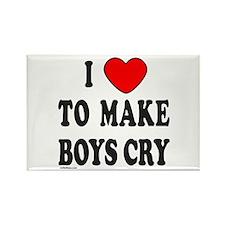 I MAKE BOYS CRY Rectangle Magnet