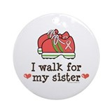 Breast Cancer Walk Sister Ornament (Round)