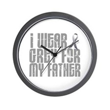 I Wear Grey For My Father 16 Wall Clock