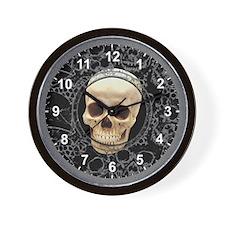 Peek-a-Boo Black Wall Clock