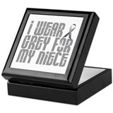 I Wear Grey For My Niece 16 Keepsake Box