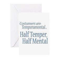 Temperamental Costumer Greeting Cards (Pk of 10)