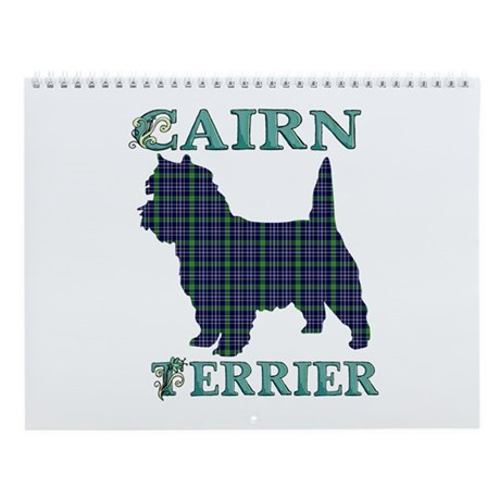 Plaid Cairn Terrier Wall Calendar