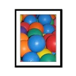 Balls of Every Color Framed Panel Print