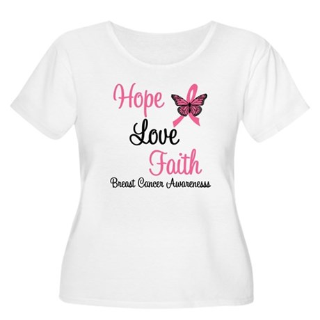Breast Cancer Hope Women's Plus Size Scoop Neck T-