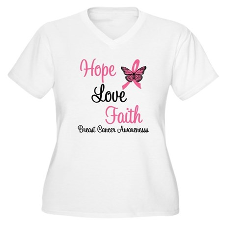 Breast Cancer Hope Women's Plus Size V-Neck T-Shir