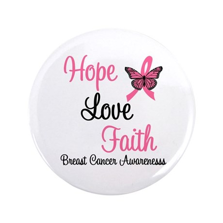 "Breast Cancer Hope 3.5"" Button"