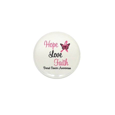 Breast Cancer Hope Mini Button (10 pack)