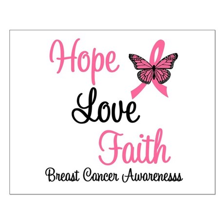 Breast Cancer Hope Small Poster