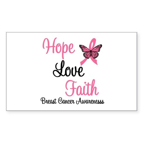 Breast Cancer Hope Rectangle Sticker