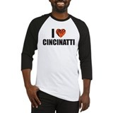 Unique I heart ohio Baseball Jersey