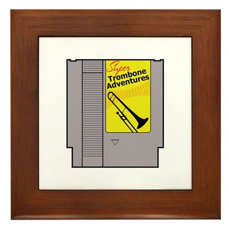 Super Trombone Adventures Framed Tile