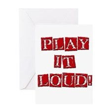 Play it Loud - Red Greeting Card