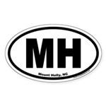 Mount Holly, NC MH Euro Oval Sticker