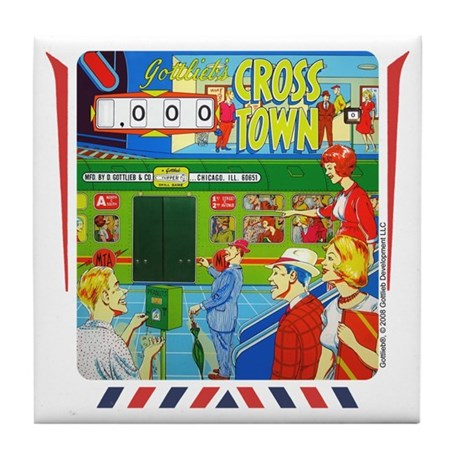 "Gottlieb® ""Cross Town"" Tile Coaster"