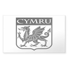 CYMRU Wales Rectangle Decal