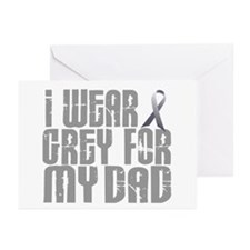 I Wear Grey For My Dad 16 Greeting Cards (Pk of 20