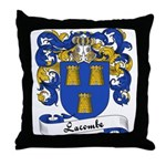 Lacombe Family Crest Throw Pillow