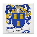 Lacombe Family Crest Tile Coaster